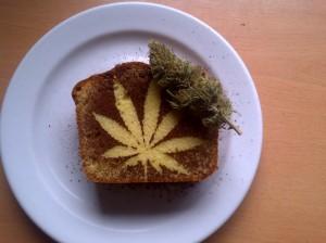 gâteau à la marijuana biologique
